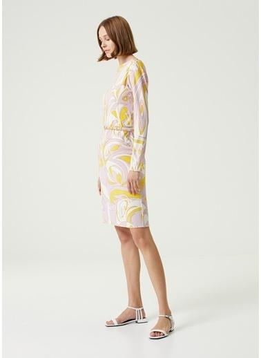 Emilio Pucci Emilio Pucci Colorblocked Desenli Mini Elbise 101602442 Renkli